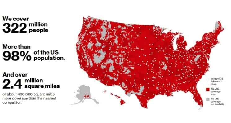 Verizon Interactive map